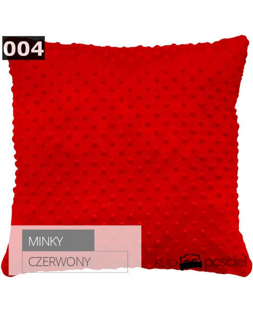 Poszewka 40x40cm MINKY - Czerwony
