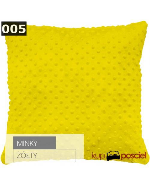 Poszewka 40x40cm MINKY - Żółty
