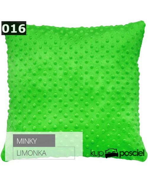Poszewka 40x40cm MINKY - Limonka