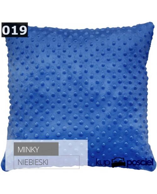 Poszewka 40x40cm MINKY - Niebieski