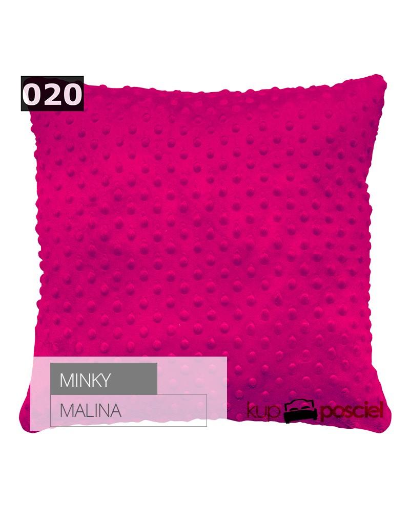 Poszewka 40x40cm MINKY - Malina
