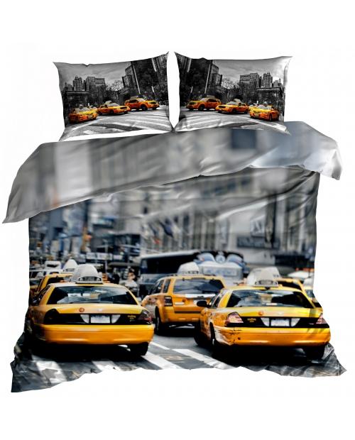 Pościel 3D 160x200cm bawełna satyna NEW YORK TAXI